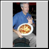 Steve playing frisbee pizza